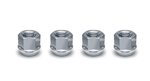 White Knight Wheel Accessories 1304-1S Zinc 1//2-20 Open End Bulge Acorn Lug Nut Pack