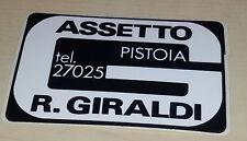 Adesivo Sticker ASSETTO GIRALDI (preparatore auto di Pistoia)  cm 8,5 x 5,5