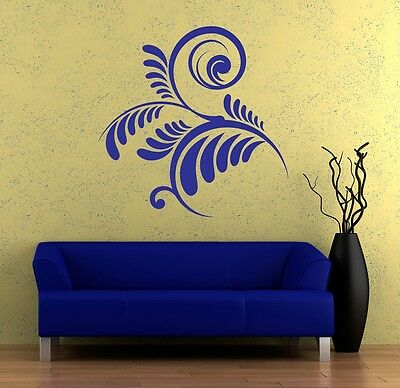 Wall Art sticker transfer bedroom,lounge,0050 fern leaf 30 colours