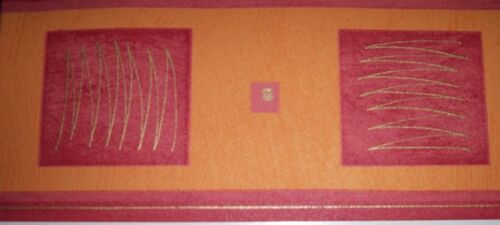 Modische Vinyl Borte NEU rot-terracotta