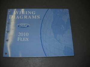 2010 ford flex electrical wiring diagram troubleshooting shop manual rh ebay co uk