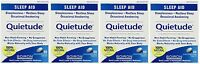 4 Pack Boiron Quietude Natural Sleep Aid Sleeping Pills 60 Dissolving Tablets Ea on sale