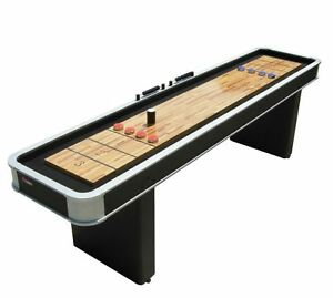 ATOMIC 9 Feet Platinum Shuffleboard Table Game Indoor Home Arcade