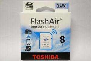 10x Toshiba Flashair Wireless Wi-Fi Speicherkarte 8GB SDHC Class 6 Neuware
