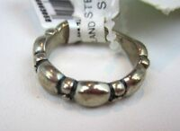 Sterling Silver Ring Band Scalloped Edge Real 925 Size 6 W/ Tags Stein Mart