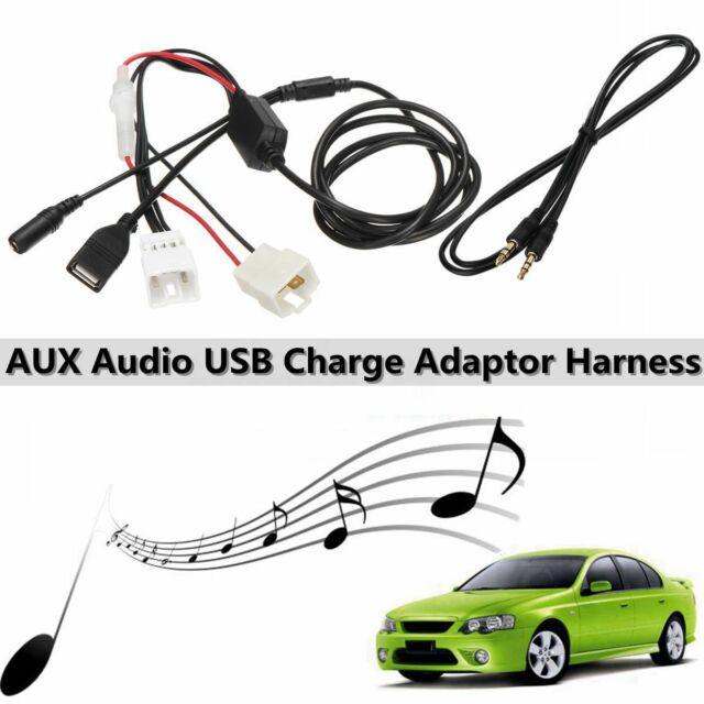 AUX Audio USB Charge Adaptor Harness For Ford Falcon Territory BA BF SX SY SYII