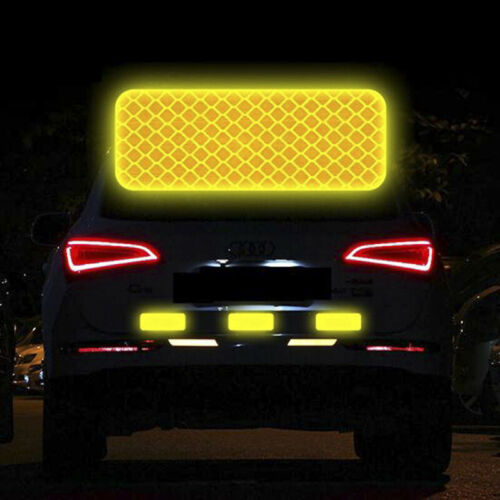 4PCS Car Reflective Strips Warning Mark Door Bumper Stickers Reflector Tap /_gu