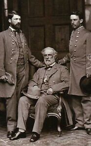 General Robert E Lee & His Sons Confederate States of America Civil War Postcard