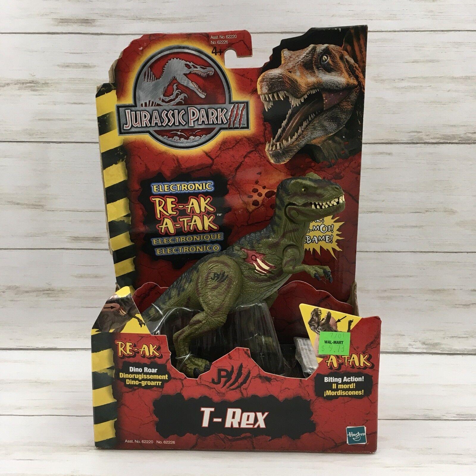Hasbro 2018 Jurassic Park 3 re-ak a-Tak T-Rex 62226 Sellado Dinosaurio  B