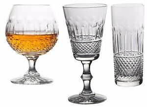 Swartons-Emmerald-24-Lead-Crystal-Set-of-6-Wine-Glass-Brandy-Champagne-Flutes