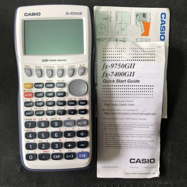 Casio FX-9750GII Graphing Calculator NEW OPEN BOX READ DESCRIPTION TESTED WORKS