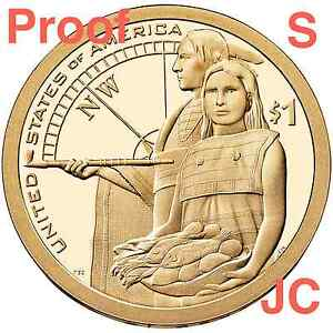 2014-S-Proof-Sacagawea-Lewis-amp-Clark-Native-American-Hospitality-Sacagewea-Dollar