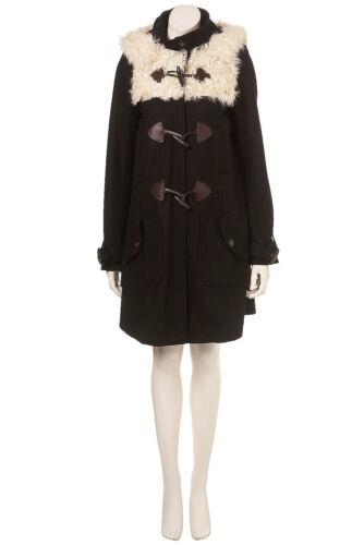 Gorgeous 10 In Black Swing 9new Duffle Sheepskin Coat Uk Topshop pTq0Rnd