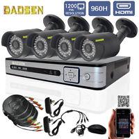 8ch 960h Surveillance Hdmi Dvr 4pcs 1200tvl Cctv Outdoor Ir-cut Security Cameras