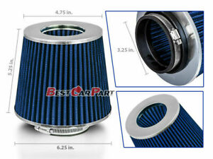 BLUE-3-25-034-82-5mm-Inlet-Cold-Air-Intake-Cone-Replacement-Quality-Dry-Air-Filter