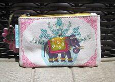 Pretty Elephant India Papaya Art Mini Credit Card Wallet ID Key Ring Coin Purse