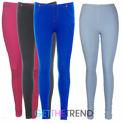 GüNstig Einkaufen Womens Jeggings Cotton Stretch Denim Jeggings With Pockets Sizes 8-14 Leggings