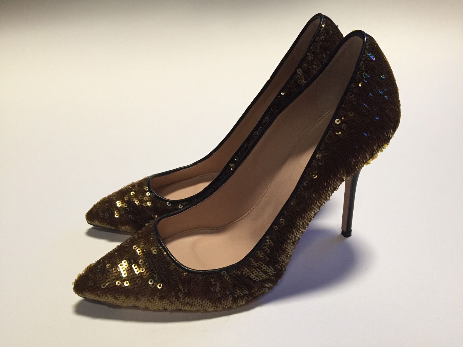 J Crew Roxie Sequin Pumps Größe 9.5 Style# C0454 298 Saffron Sequins New