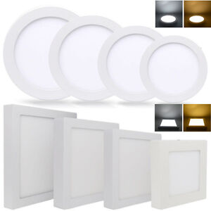 6w 24w led panel deckenlampe deckenleuchte aufputz strahler spot lampe leuchte ebay. Black Bedroom Furniture Sets. Home Design Ideas
