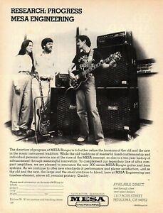 vtg 70s 80s CARLOS SANTANA MESA BOOGIE MAGAZINE ADVERTISEMENT Pinup Guitar Amps