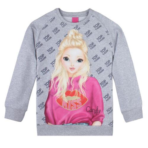 Candy 128-164 Shirt Grau Pullover TOP MODEL Pulli Sweatshirt
