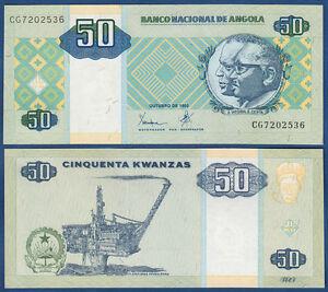 Angola 50 Kwanzas 1999 Unc P.146 A Paper Money: World
