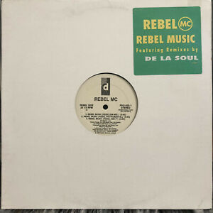 "REBEL MC - REBEL MUSIC (+DE LA SOUL REMIX) (12"")  1990!!!  RARE!!!  MASEO!!!"