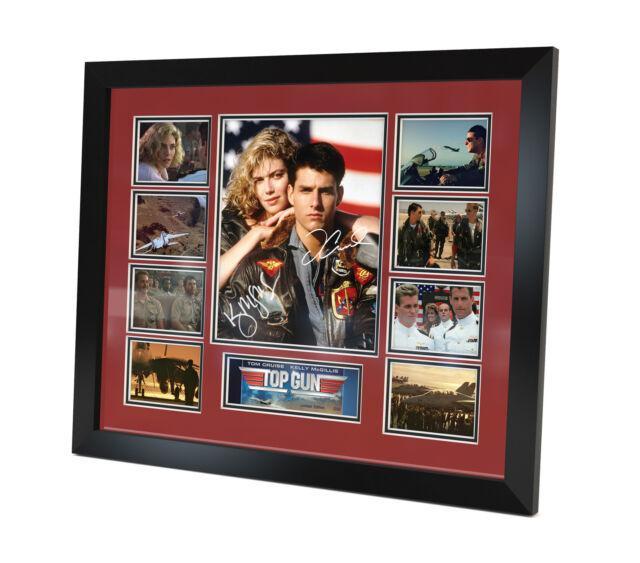 Top Gun - Signed Photo - Tom Cruise - Kelly McGillis - Movie Memorabilia Framed