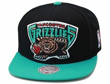 Mitchell & Ness Vancouver Grizzlies Snapback Hat Black/Turquoise/XL Size Logo