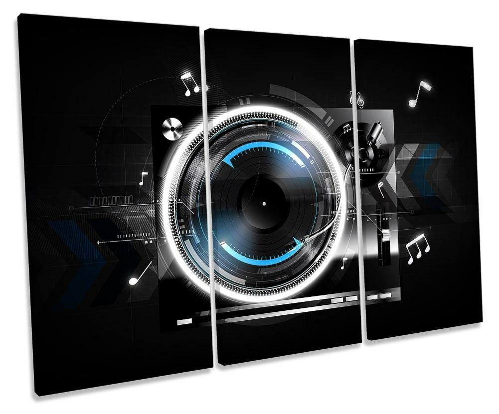 Cubiertas De Dj Digital Lienzo Lienzo Lienzo Enmarcado agudos Tocadiscos Impresión Pared Arte 92282e