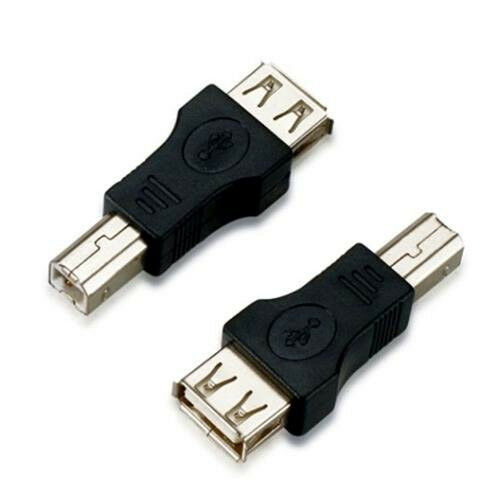 2 Units Lot Sale USB A FEMALE T0 B MALE M//F PRINTER ADAPTER CHANGER