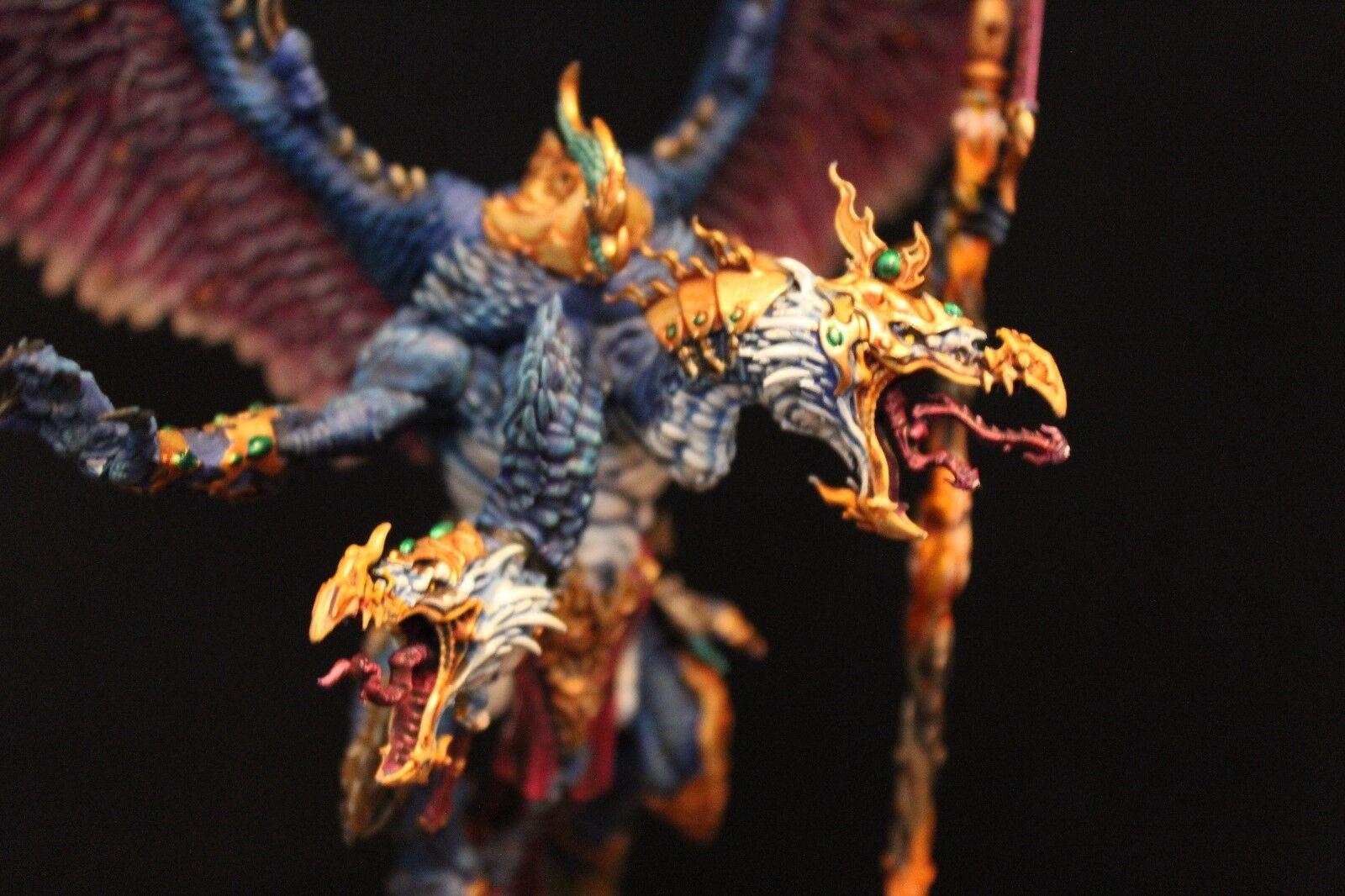Warhammer 40k & aos Pro Pintado Kairos fateweaver mayor demonio hecho a pedido