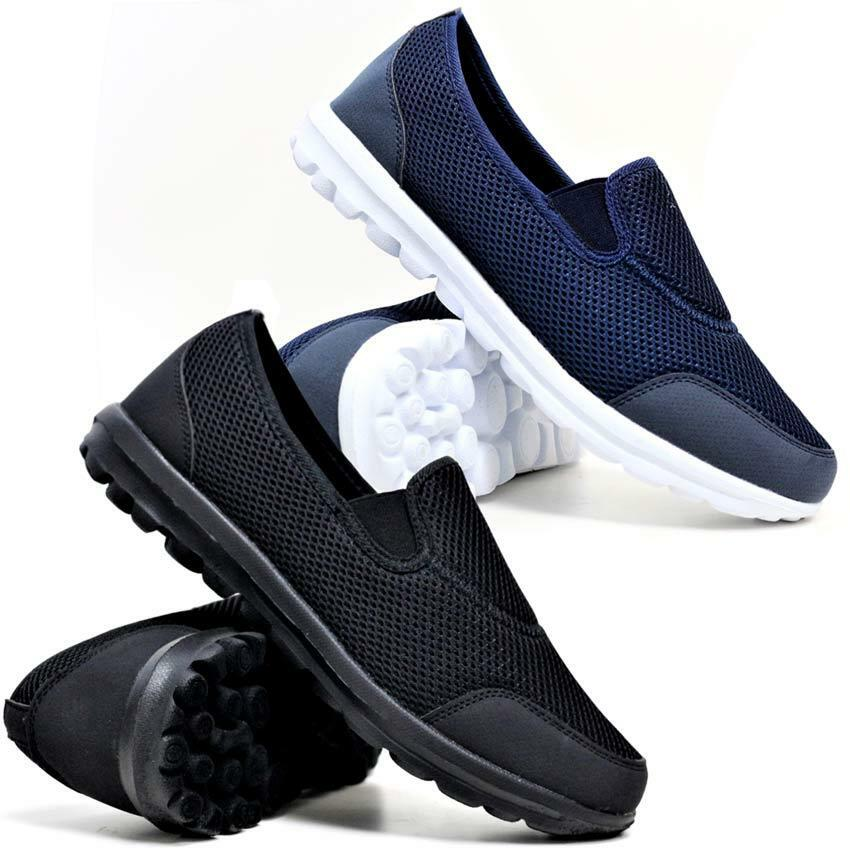 Mens Slip On Get Fit Go Walking Casual Fitness Running Gym Trainers Shoes Comfortable  Brand discount