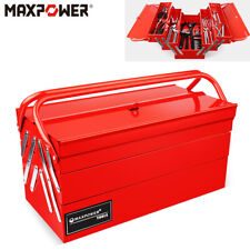17 Tool Box Workshop Metal Cantilever 3 Tier 5 Tray Toolchest Storage Portable