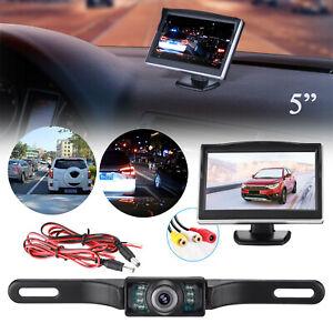 5-034-TFT-LCD-Car-Rear-View-Backup-Monitor-amp-Wireless-Parking-Night-Vision-Camera-Kit