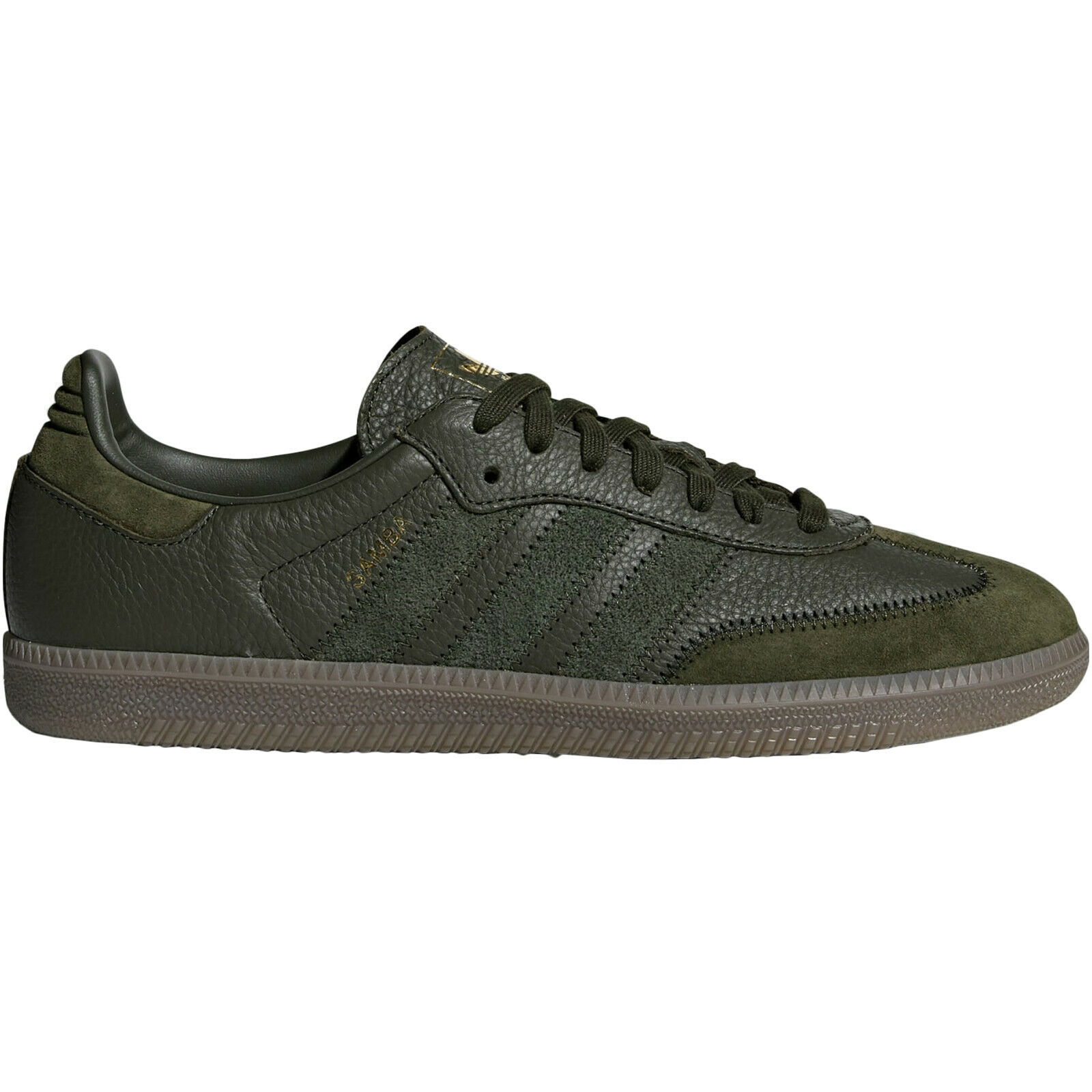 Adidas Samba OG FT Leather Classic Lace-Up Sneakers Mens Trainers