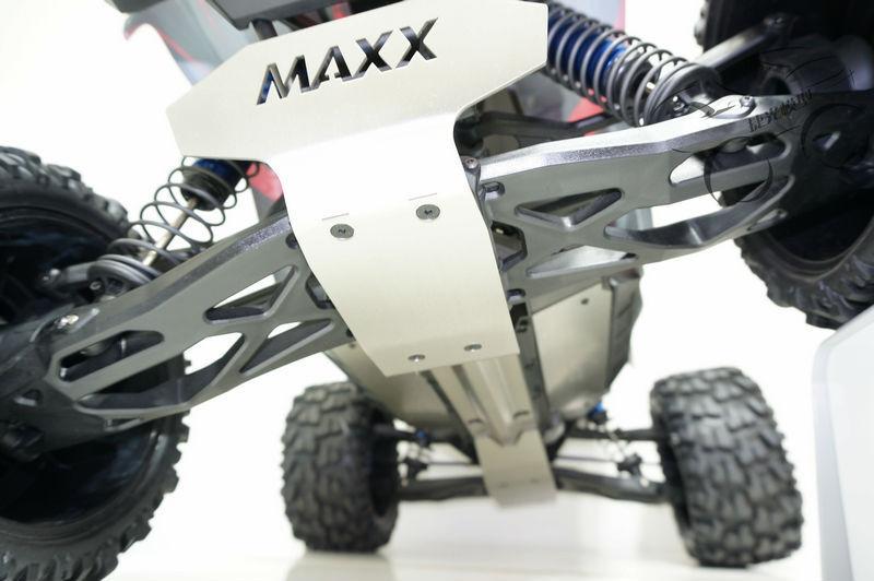 Accidente de projoección de armadura de Chasis Placa Inferior Delantero Trasero-MAXX 6s Antideslizante TRAXXAS X