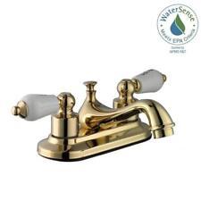 Glacier Bay Bathroom Faucet Brass Gold White Handles Ebay