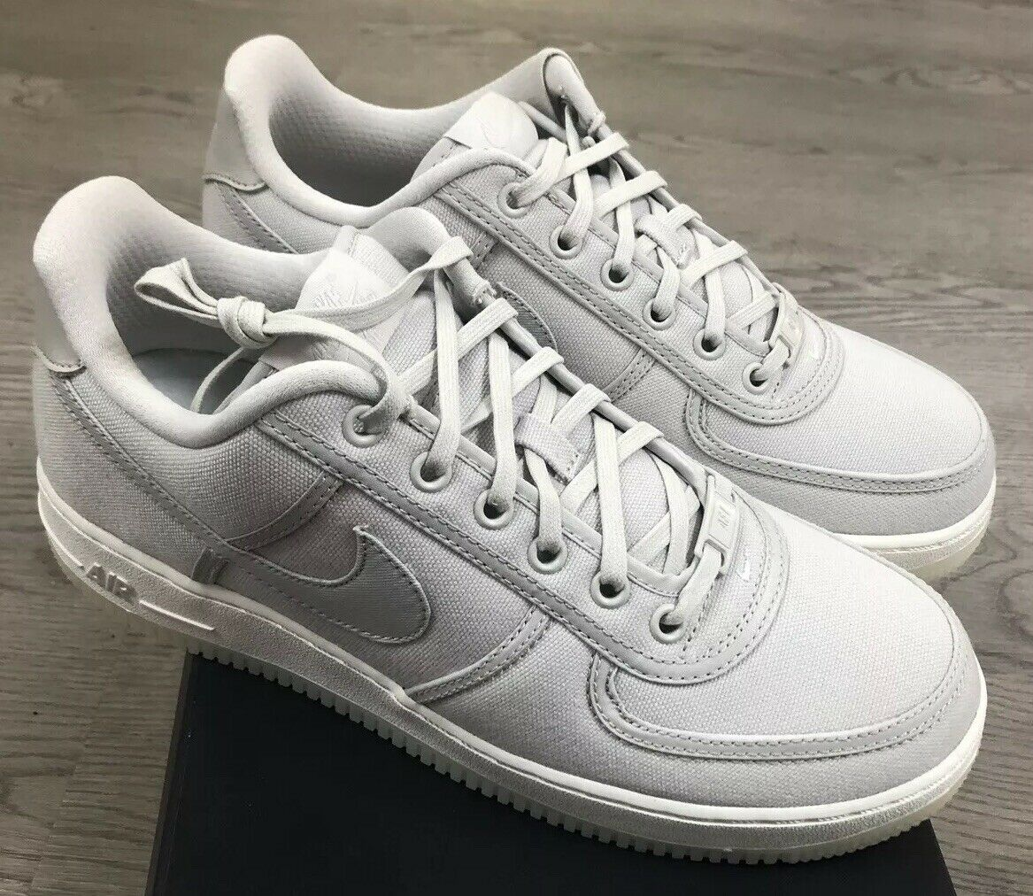 Nike Air Force 1 bajo Retro Qs Lona Claro Hueso Sail Talla 9 Nuevo en Caja