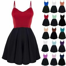item 2 Womens Ladies Padded Boobtube Strappy Sleeveless Contrast Flared  Skater Dress -Womens Ladies Padded Boobtube Strappy Sleeveless Contrast  Flared ... 71e7ccaea