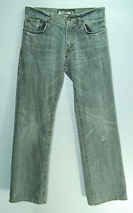 Destroyed-Distressed-FADED-GRAY-Boot-Cut-Low-Rise-OLD-NAVY-Jeans-28-30