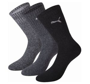 Puma-Sports-3-Pair-Socks-Anthracite-Grey