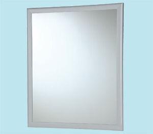 Specchio rettangolare 40x50 per bagno specchiera con cornice e ganci 50574 ebay - Specchio bagno con cornice ...