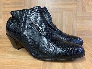 Vintage-Moda-Scapa-Moda-Italia-Python-Ankle-Boots-Sz-7-8-Men-039-s-Leather-Botini