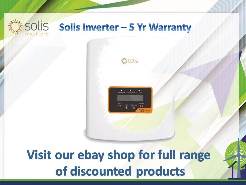 Solis Cheap MCS Solar InGrüner 3.0kW 4G Dual MPPT - Single Phase 5 Yrs Warranty