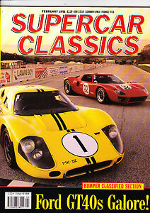 SUPERCAR-CLASSICS-Feb-1991-Ford-GT40-Facel-Vega-Alpine-and-more-mint