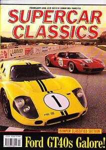 SUPERCAR-CLASSICS-Feb-1991-Ford-GT40-Facel-Vega-Alpine-and-more-mint