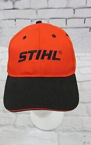 Stihl-Chainsaw-Orange-Snapback-Baseball-Cap-Hat-New