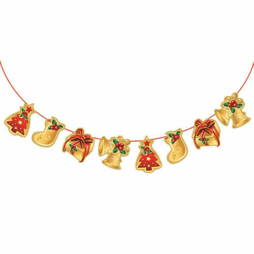 Merry Christmas Banner Pennant Hanging Flag Garlands Bunting Xmas Party Decor T