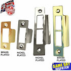 Strike Plate Polished Chrome or Brass Short / Long Plate Tubular Mortice Latch